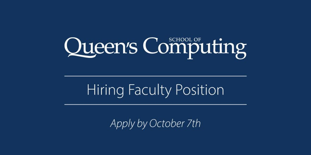 Hiring Faculty Position Apply by October 7th