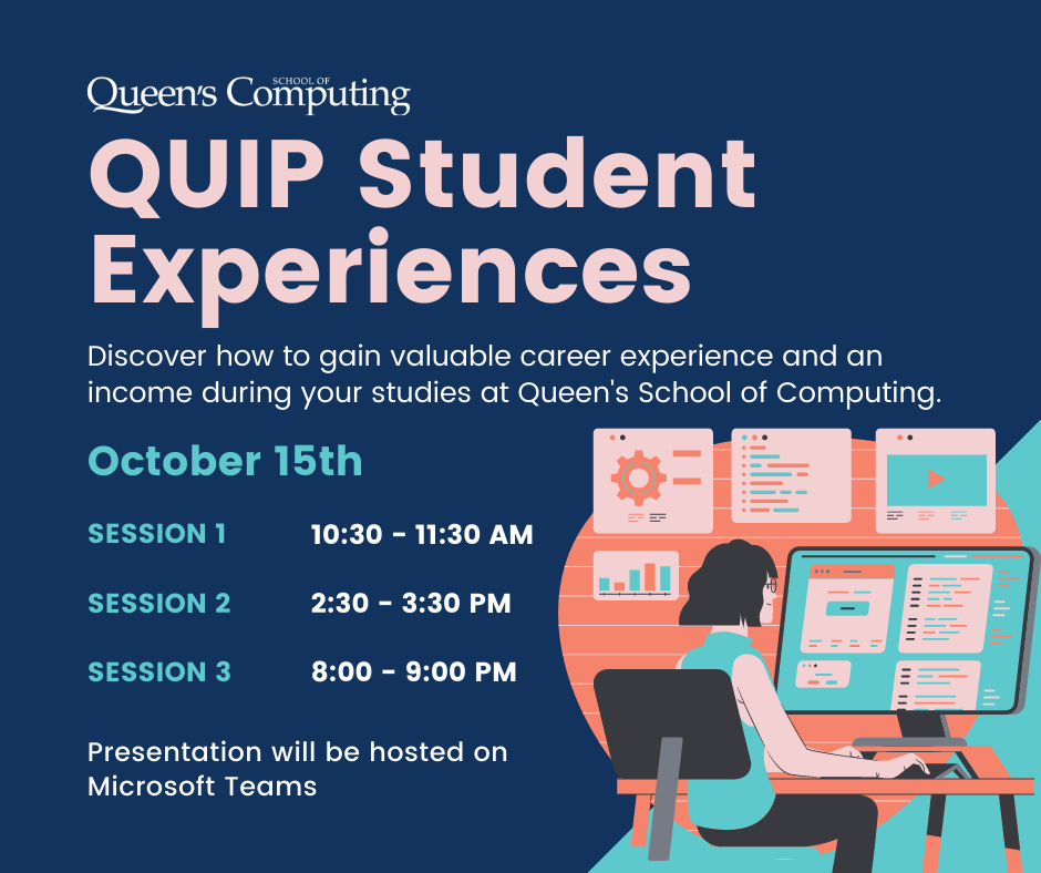 Discover how to gain valuable career experience and an income during your studies at Queen's School of Computing.
